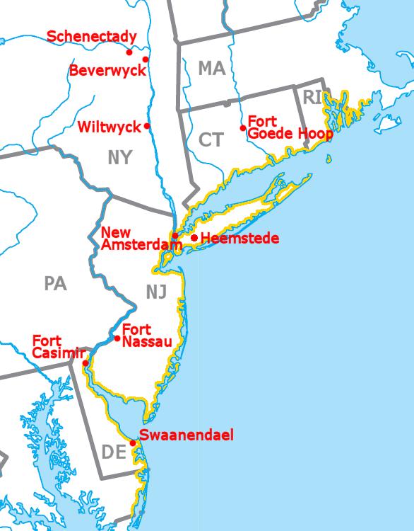 New York'un eski ismi bölgede Amsterdamlıların yaşaması dolayısı ile New Amsterdam'dır.